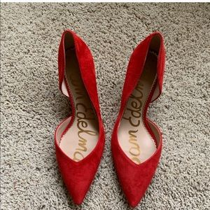 """Red 2.5"""" heels"""